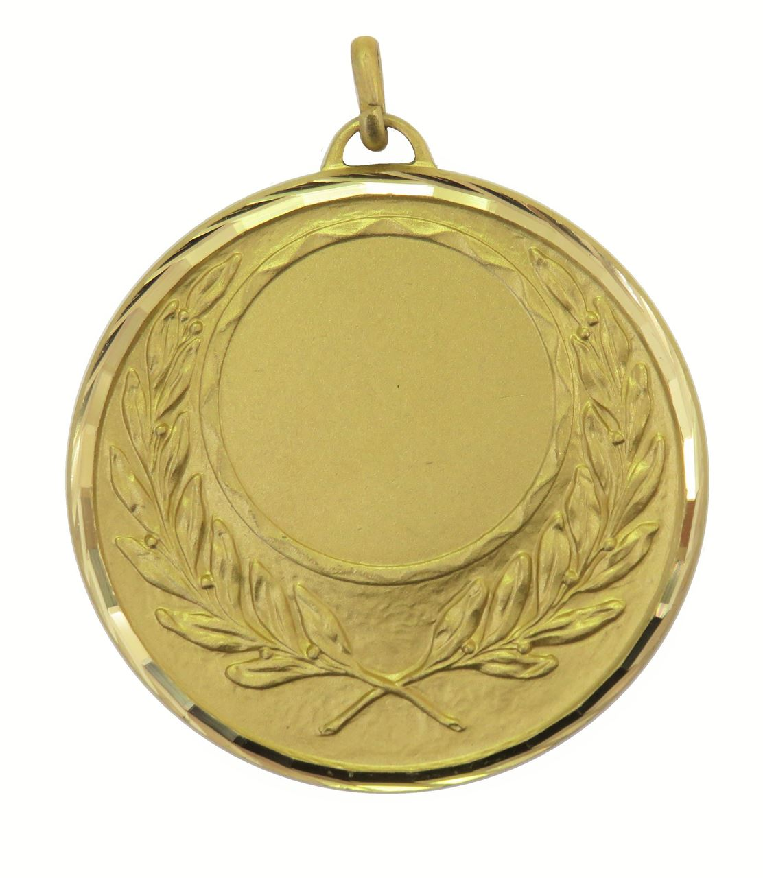 Gold Faceted Wreath Medal (size: 50mm) - 5605F