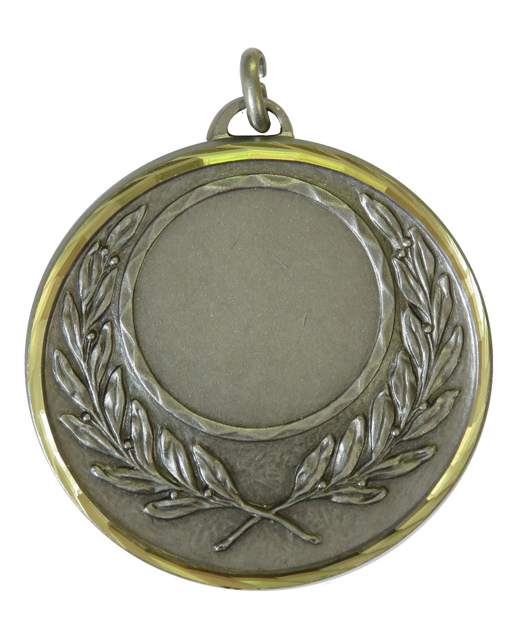 Silver Faceted Wreath Medal (size: 50mm) - 5605F