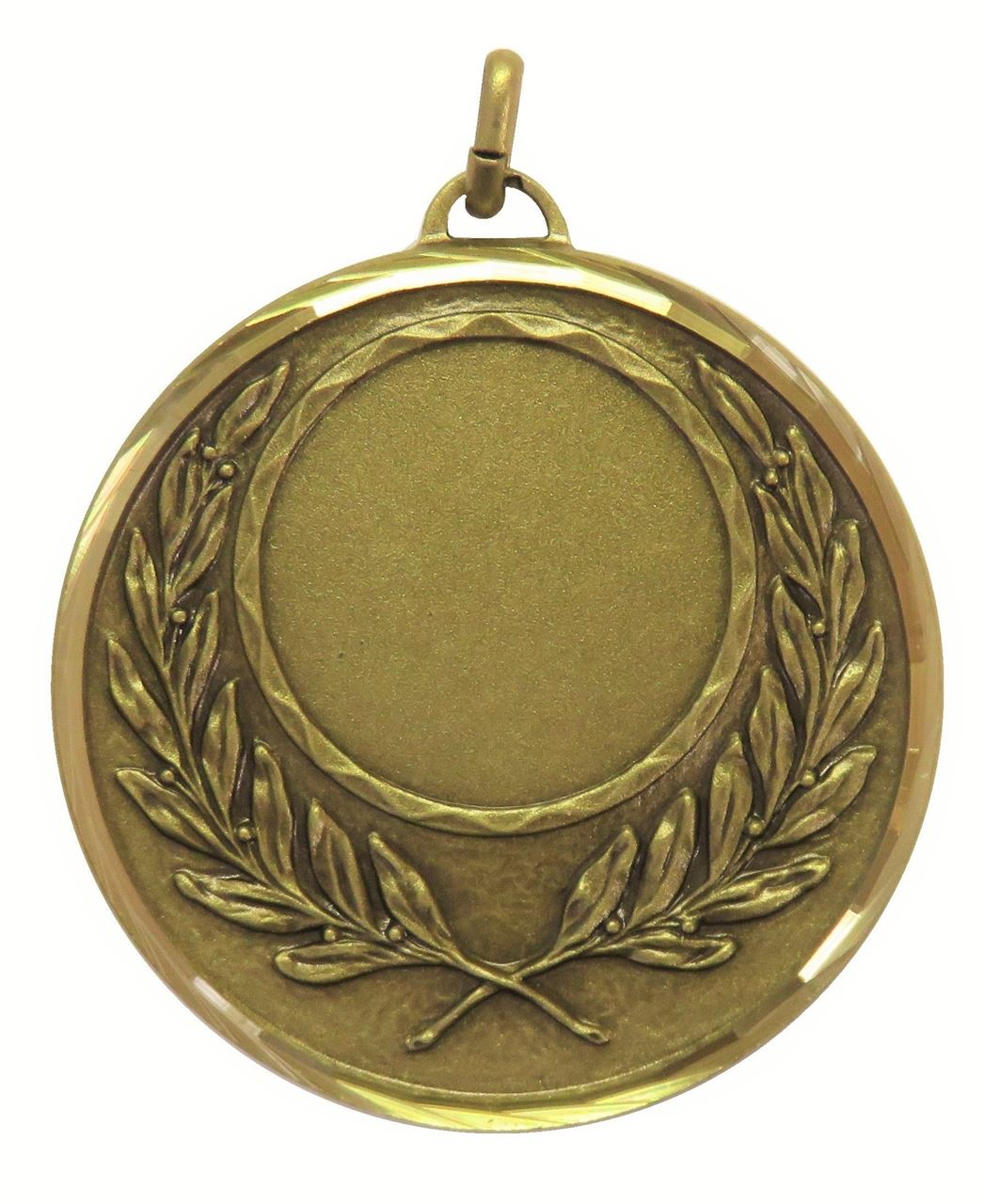 Bronze Faceted Wreath Medal (size: 50mm) - 5605F