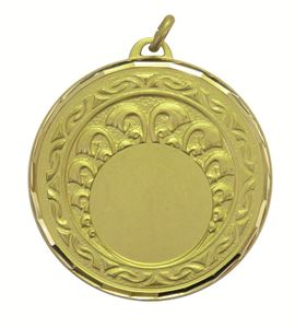 Gold Faceted Roman Medal (size: 50mm) - 5725F