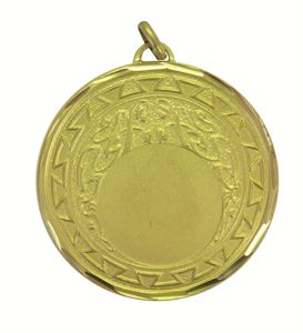 Gold Faceted Aztec Medal (size: 50mm) - 5730F