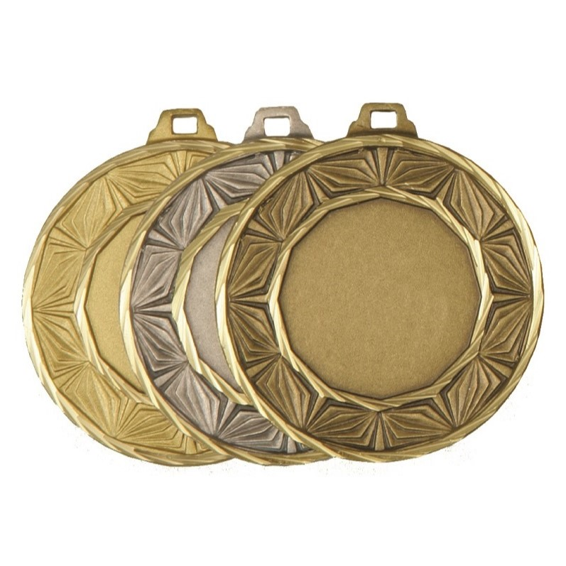 Gold, Silver and Bronze Quality Diamond Medal (size: 50mm) - 5520E