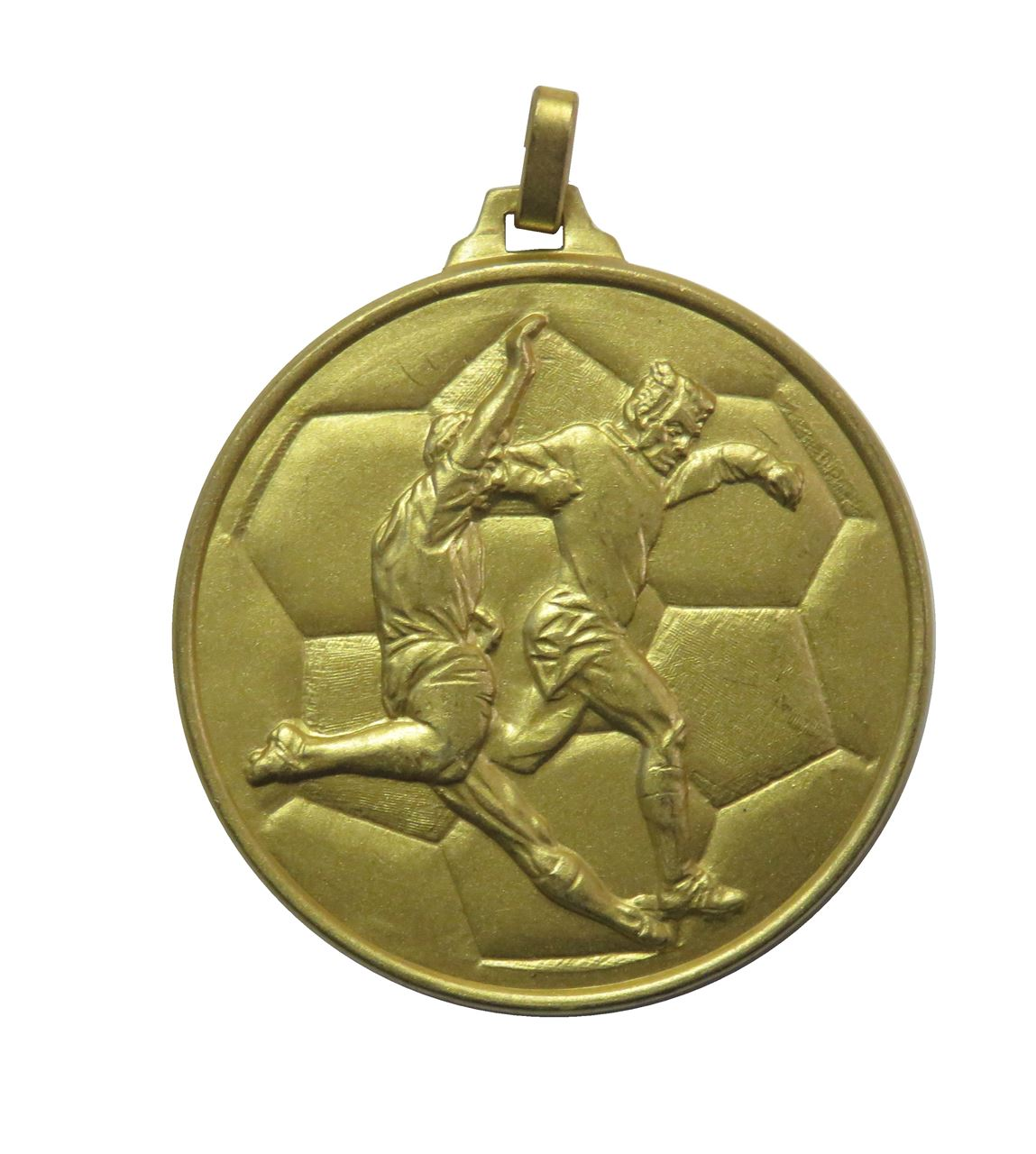 Gold  Economy Football Medal (size: 52mm) - 176E