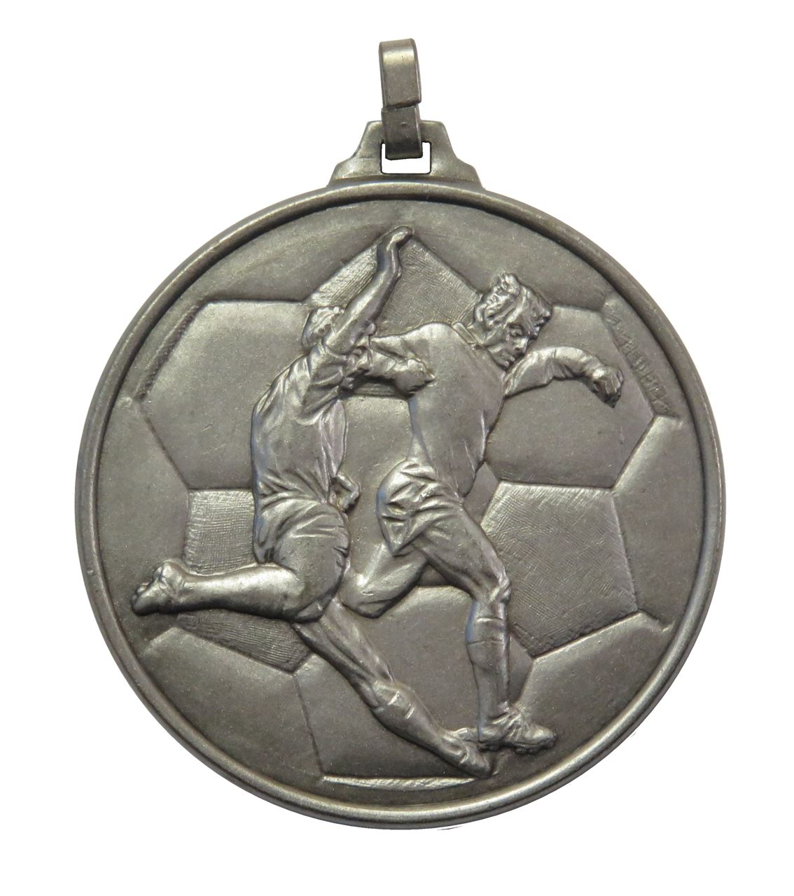 Silver Economy Football Medal (size: 52mm) - 176E