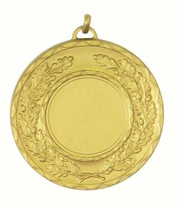 Gold Quality Classic Wreath Medal (size: 50mm) - 5595E