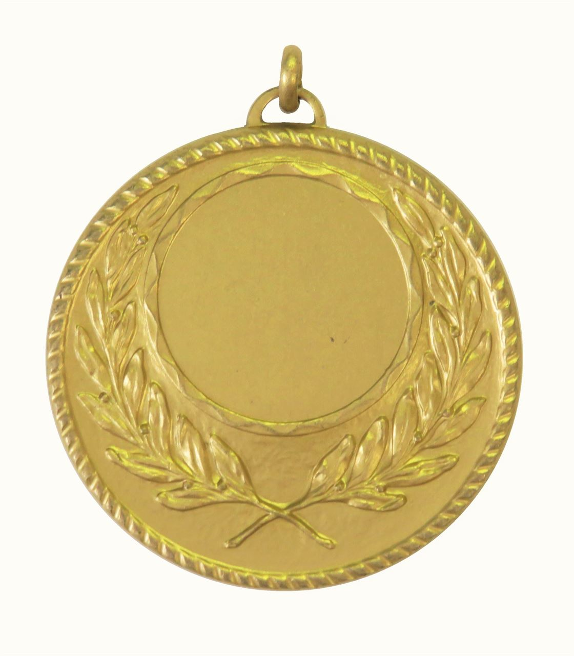 Gold Quality Wreath Medal (size: 50mm) - 5605E