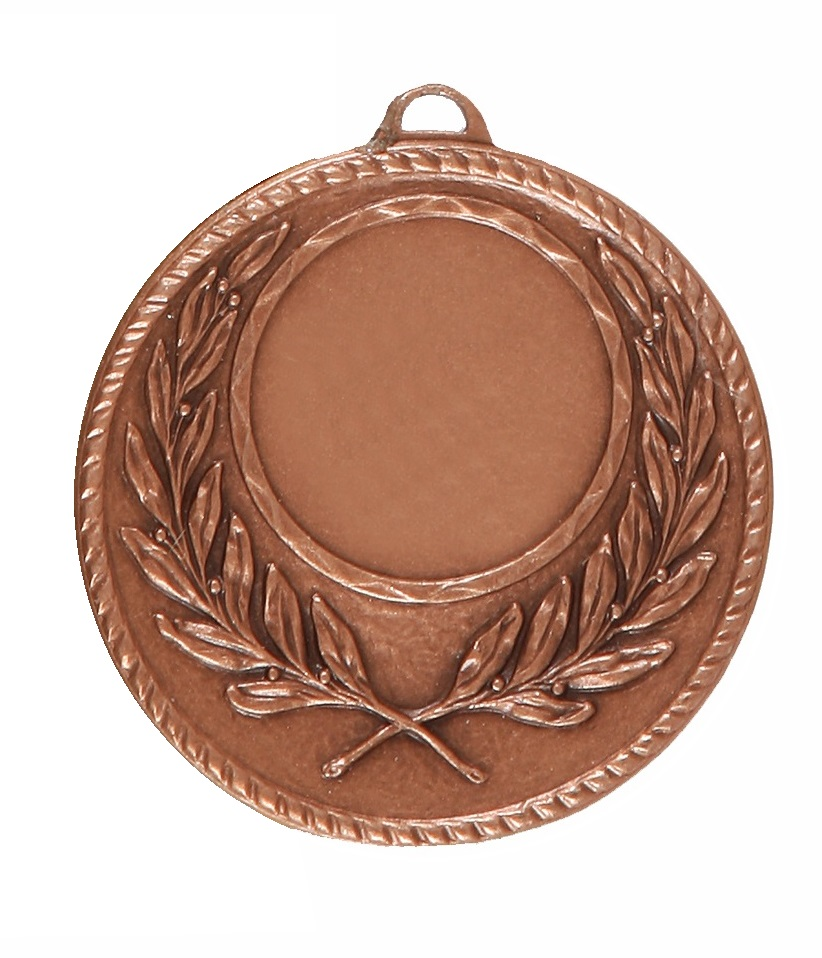 Copper Quality Wreath Medal (size: 50mm) - 5605E