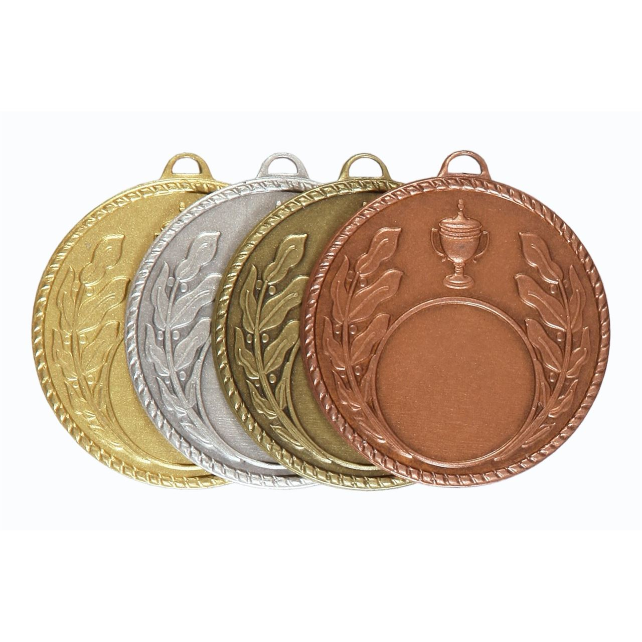 Quality Laurel & Cup Medal (size: 50mm) - 5804E