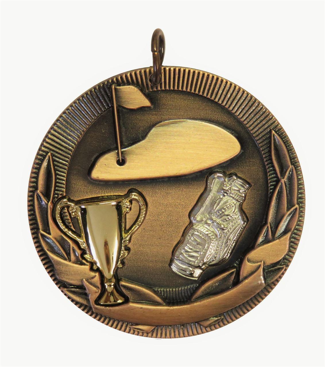 Copper Cup Design Golf Medal (size:50mm) - D3GF