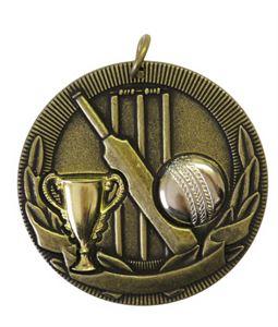 Gold Cup Design Cricket Medal (size: 50mm) - D3CK