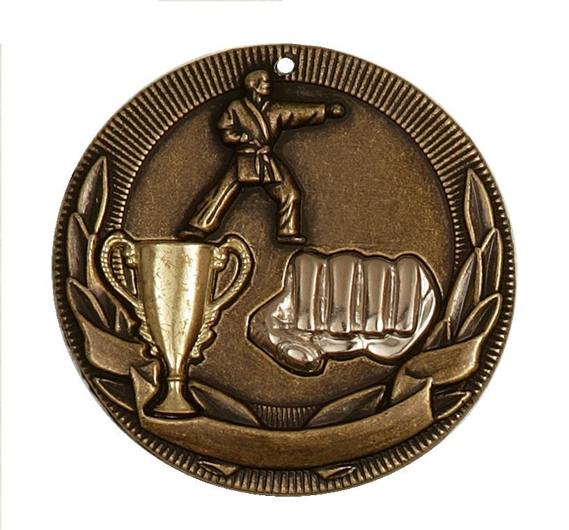 Gold Cup Design Karate Medal (size: 50mm) - D3KT
