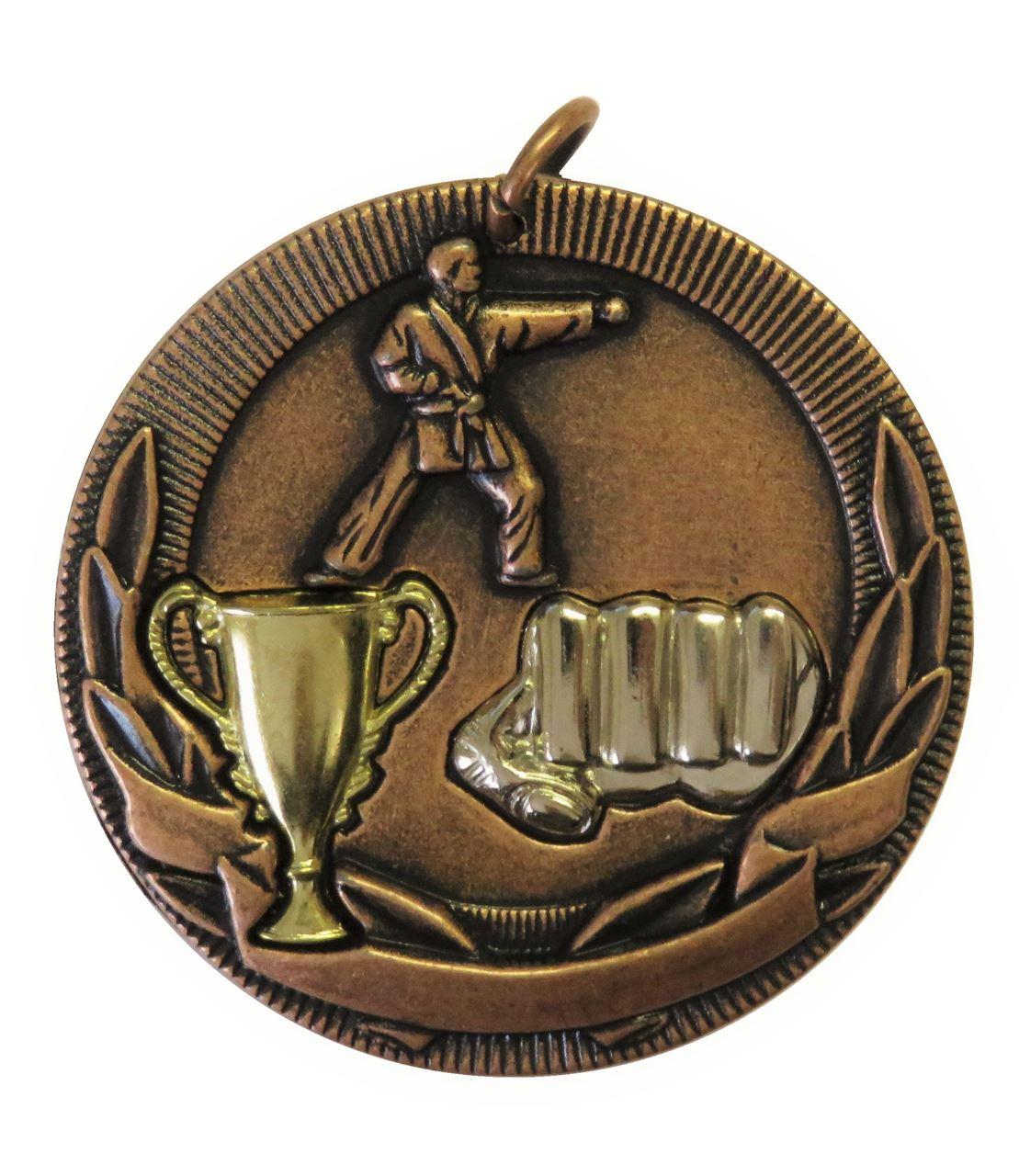Copper Cup Design Karate Medal (size: 50mm) - D3KT