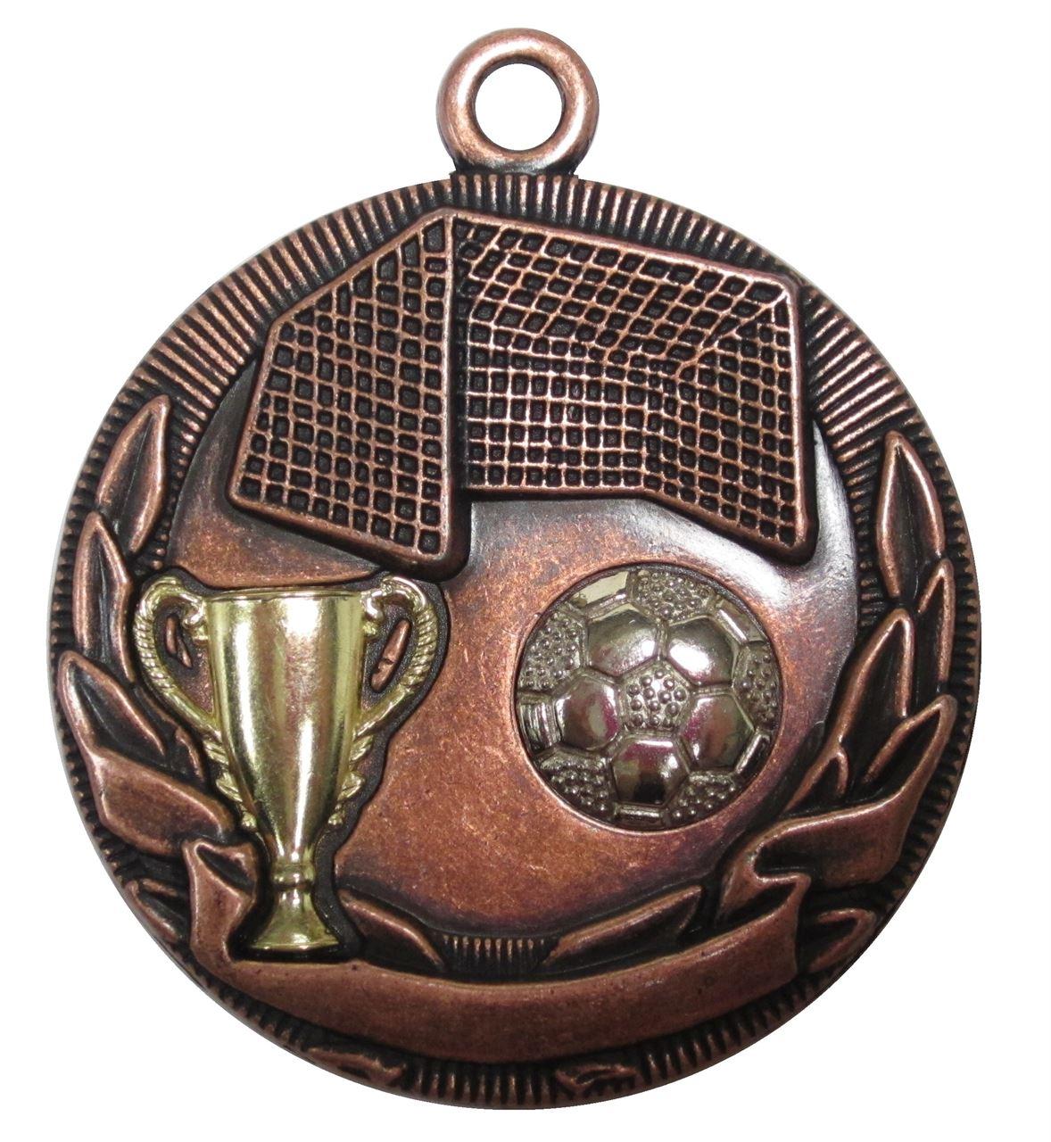Copper Cup Design Football Medal (size: 50mm) - D3FB