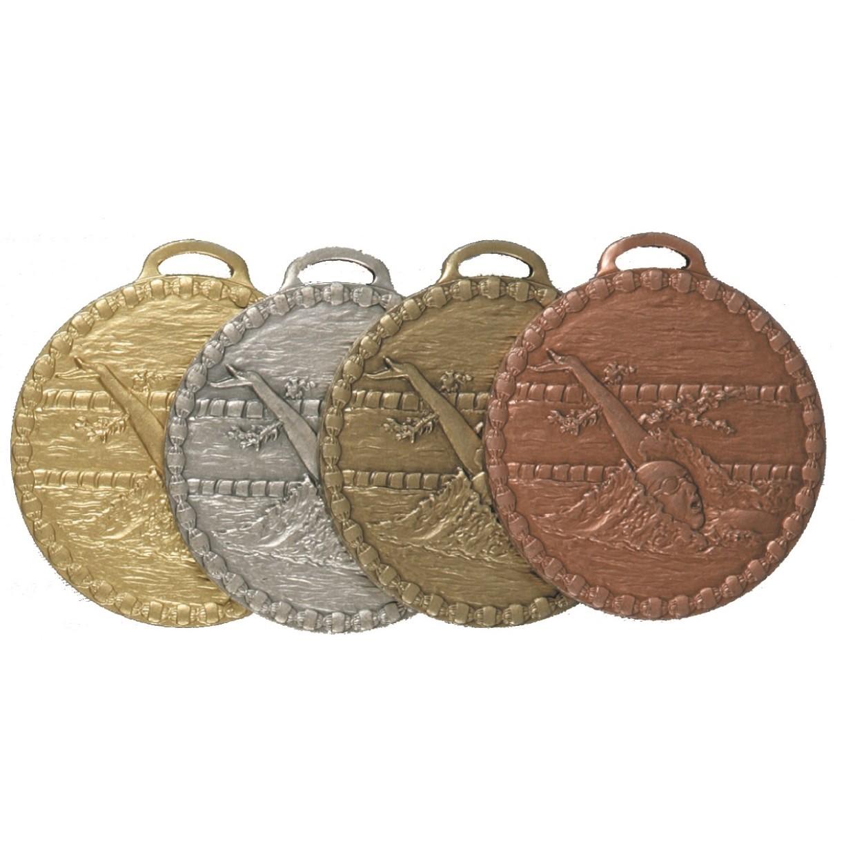 Female Back Stroke Value Swimming Medal (size: 50mm) - 675E