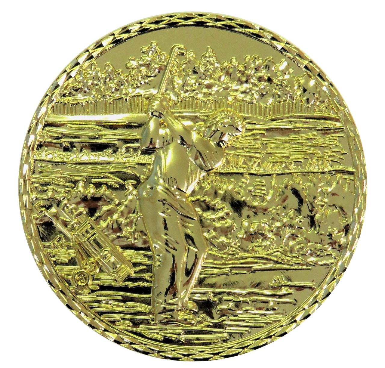 Gold Quality Golf 2 Medal (size: 60mm) - Golf2 Alloy