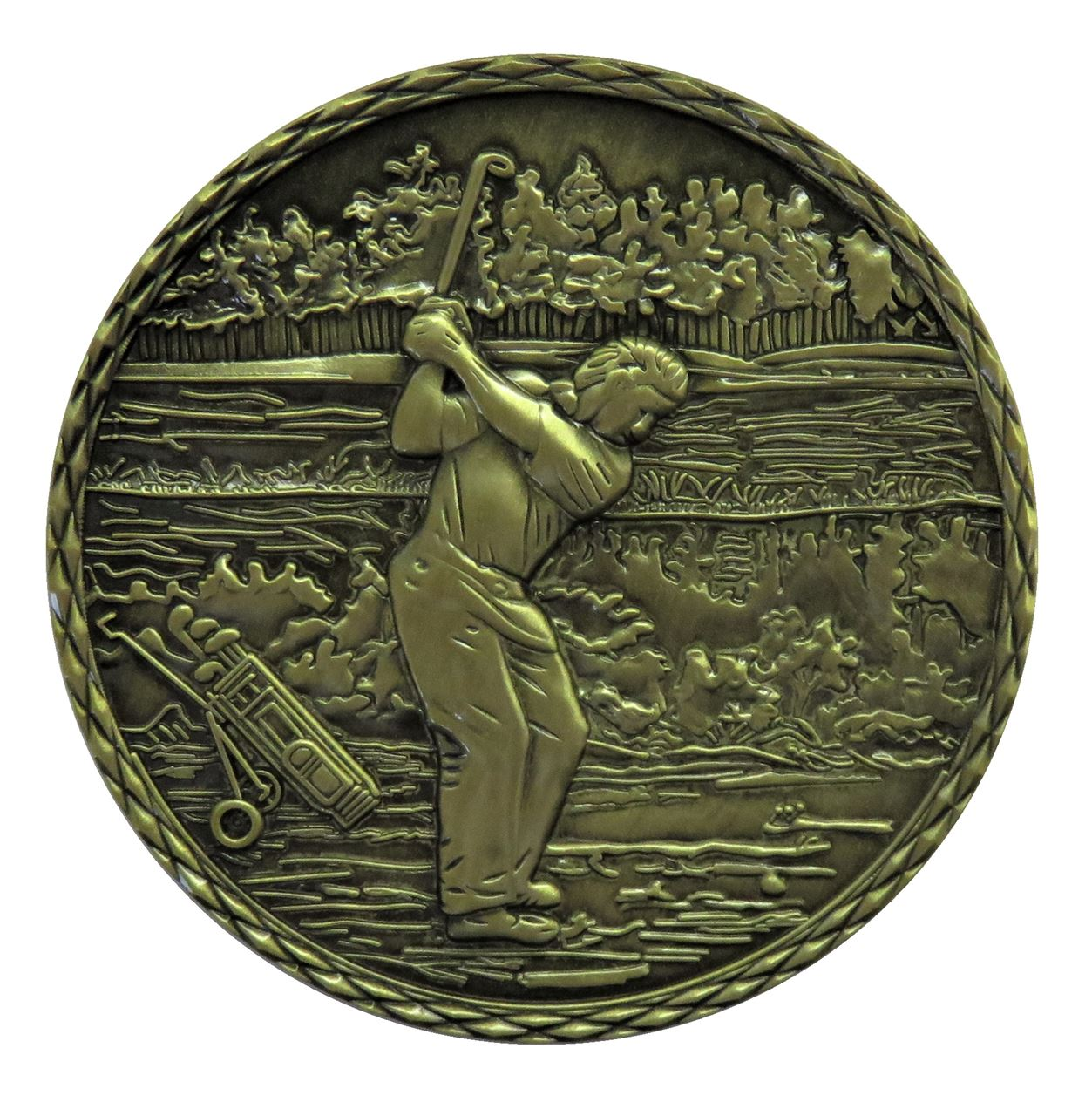 Bronze Quality Golf 2 Medal (size: 60mm) - Golf2 Alloy