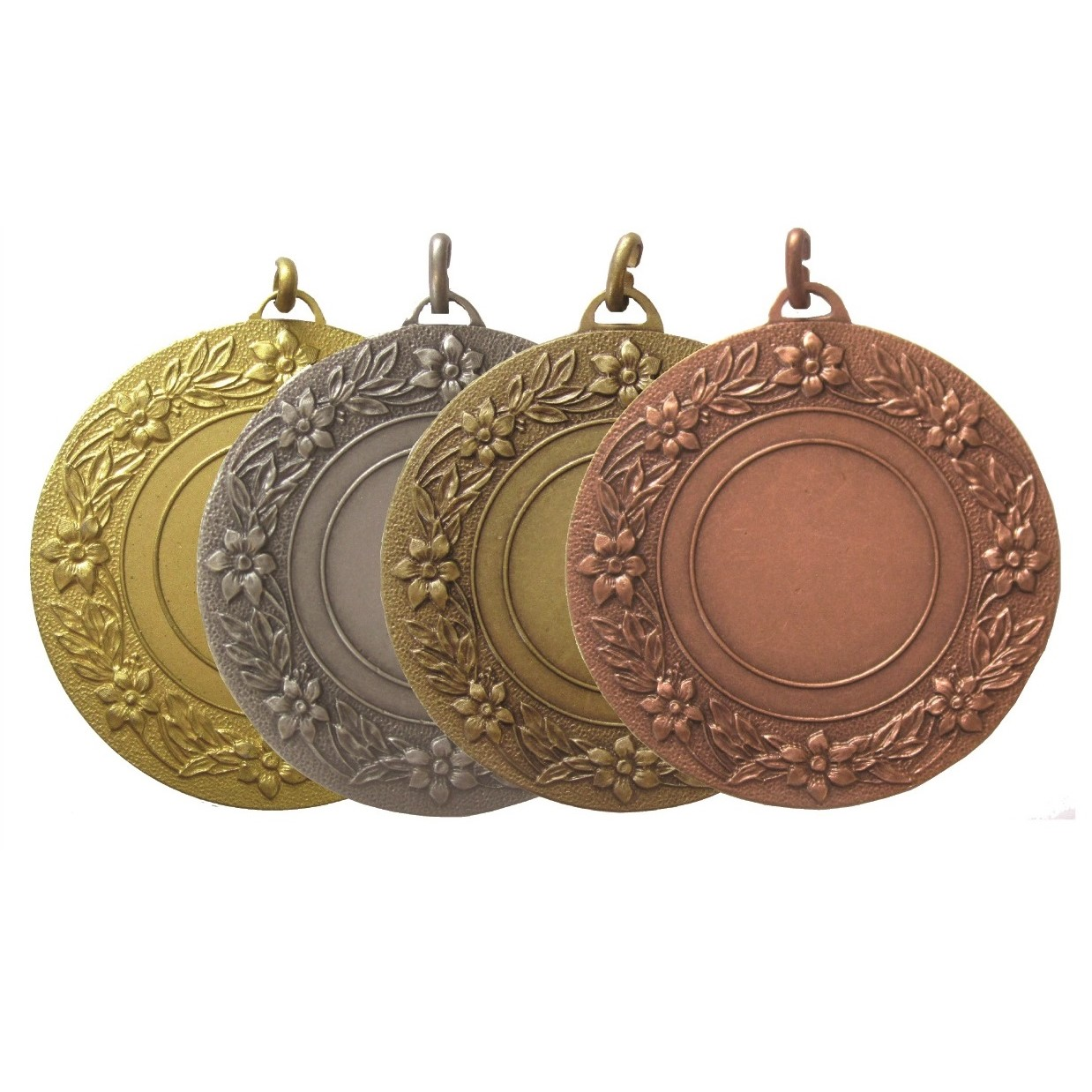 Quality Floral Medal (size: 50mm) - 5809E