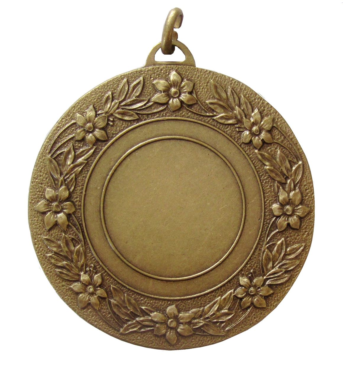 Bronze Quality Floral Medal (size: 50mm) - 5809E