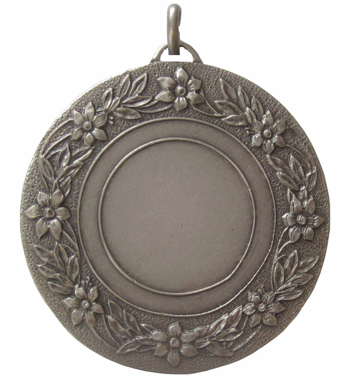 Silver Quality Floral Medal (size: 50mm) - 5809E
