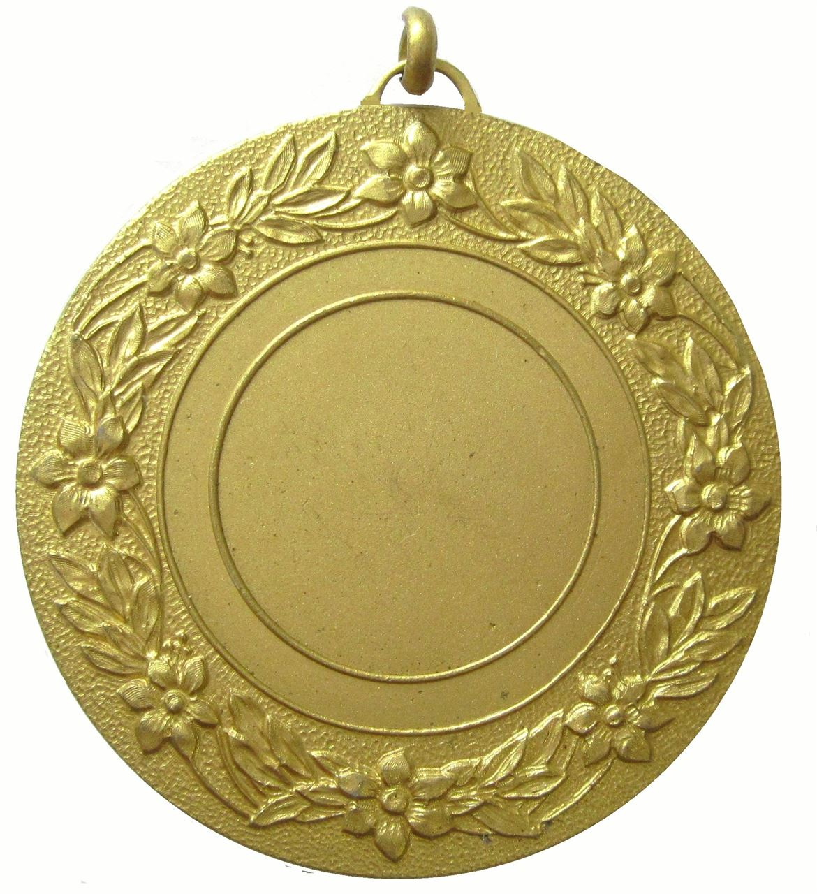 Gold Quality Floral Medal (size: 50mm) - 5809E