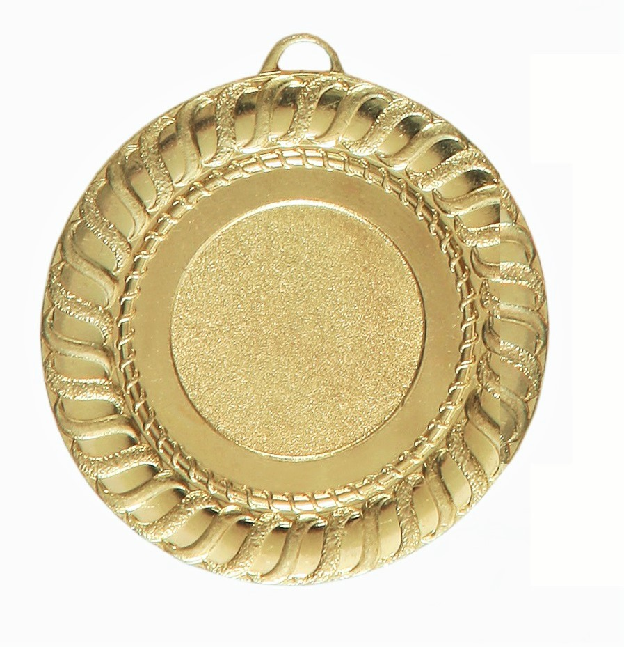 Gold Gadroon Edge Bright Finish Medal (size: 50mm) - 6001