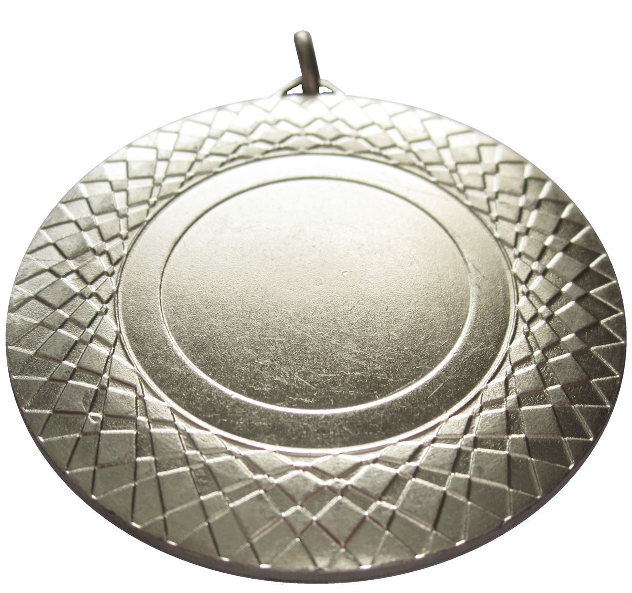 Side view of Silver Assertion Bright Finish Medal (size: 50mm) - 5807