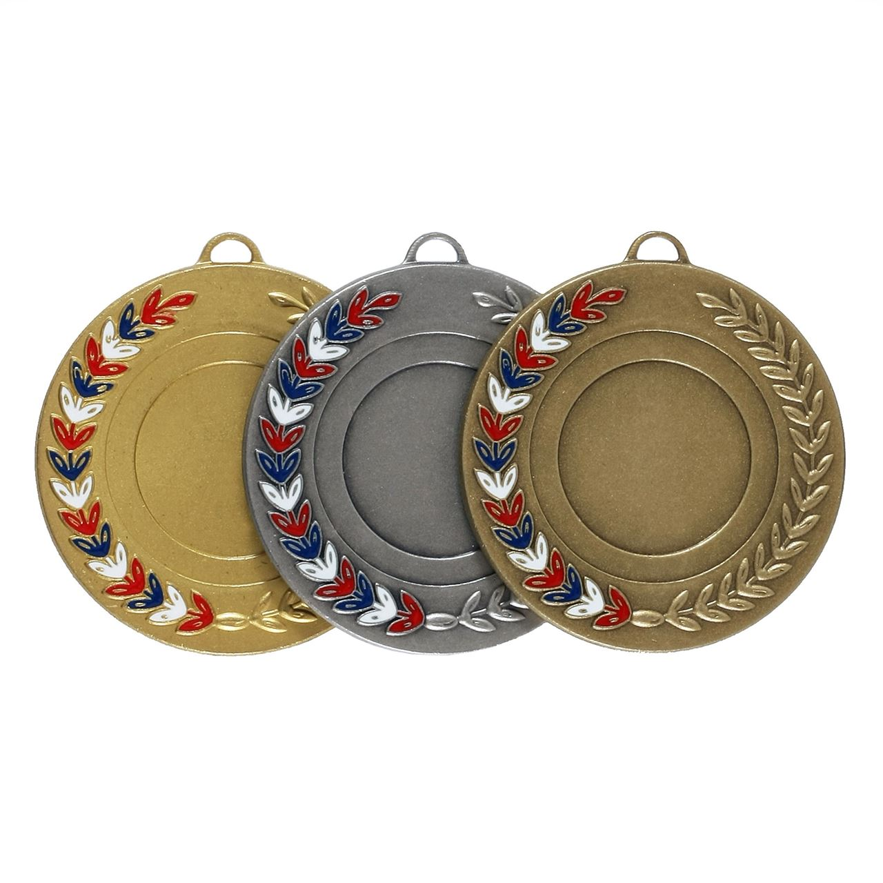 Red, White & Blue Enamel Laurel Medal (size: 50mm) - 5770