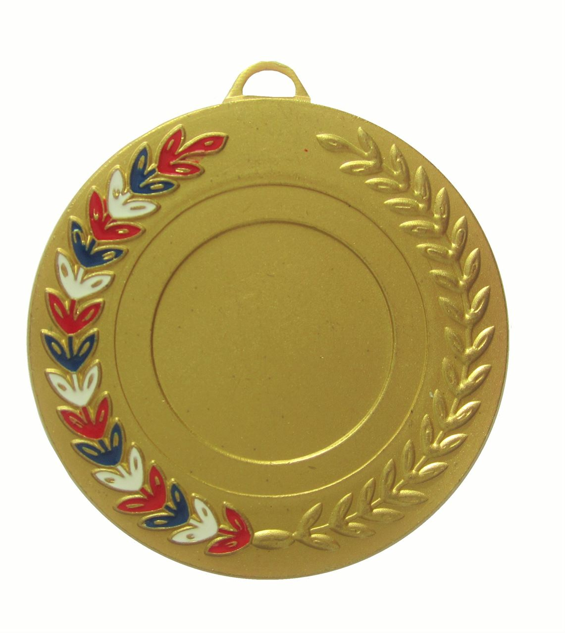 Gold Red, White & Blue Enamel Laurel Medal (size: 50mm) - 5770