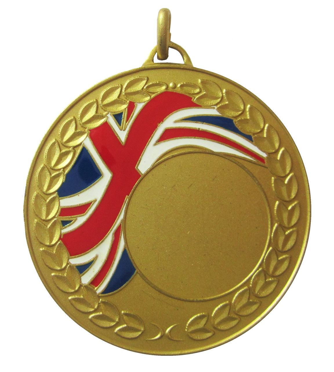 Gold Union Flag Enamel Medal (size: 50mm) - U1659