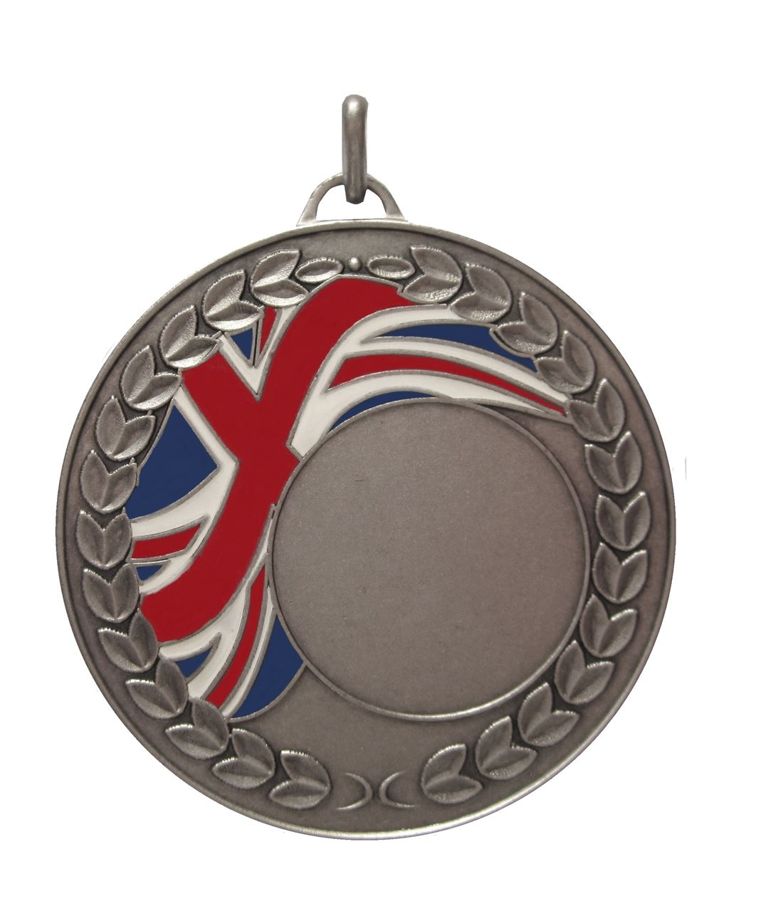Silver Union Flag Enamel Medal (size: 50mm) - U1659