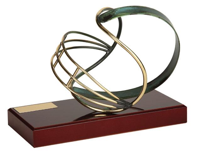 American Football Helmet Handmade Metal Trophy - 599