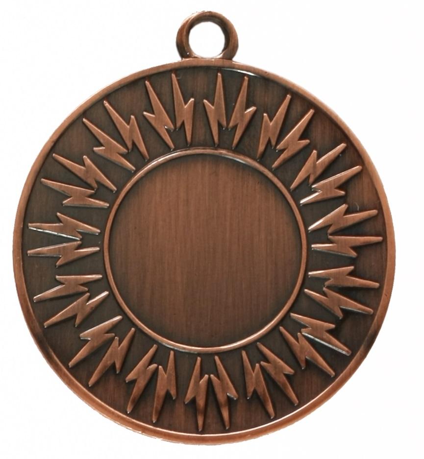 Copper Economy Lightning Bolt Medal (size: 50mm) - 7004