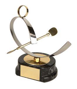 Canoeing Figure Handmade Metal Trophy