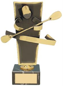 Canoeing Upright Handmade Metal Trophy