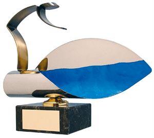 Diving Blue Wave Handmade Metal Trophy