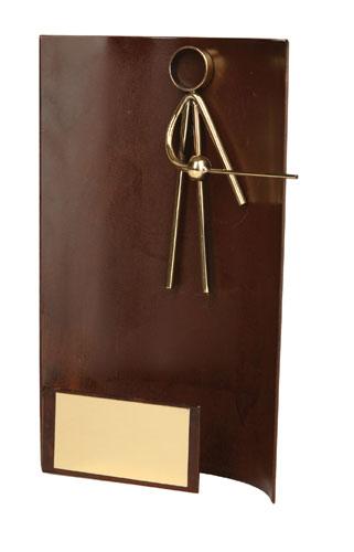 Fencing Rectangular Handmade Metal Trophy - 2314