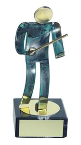 Fencing Blue Figure Handmade Metal Trophy - 600 EG