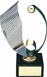 Handball and Net Handmade Metal Trophy - 202