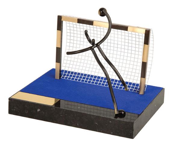 Handball Goal Handmade Metal Trophy - 865