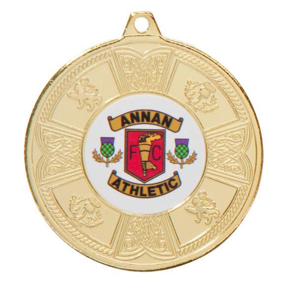 Gold Balmoral Scottish Medal - MM2104G