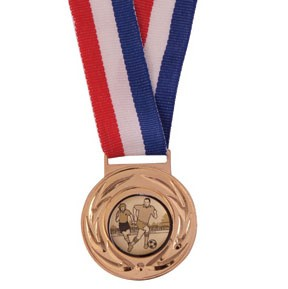 Gold Value Medal & Chunky Ribbon - MM4180G