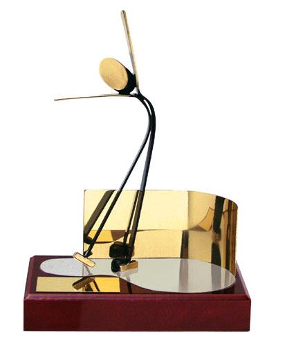 Ice Skating Figure Handmade Metal Trophy - 300