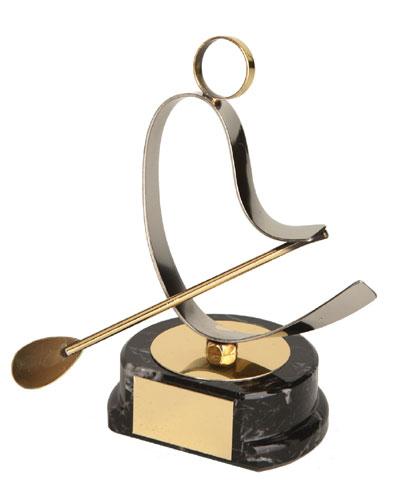 Rowing Figure Handmade Metal Trophy - 800 RE
