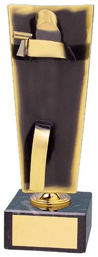 Pistol Upright Handmade Metal Trophy - 104 TI