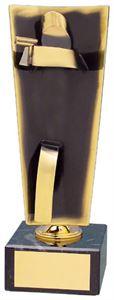 Pistol Upright Handmade Metal Trophy