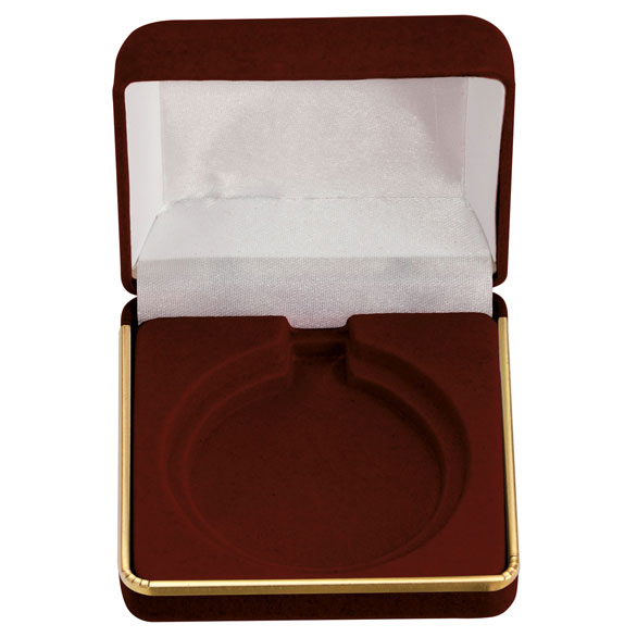 Accenture Burgundy Velour Medal Box (size: takes 50/60mm and 60/70mm medal) - MB1065C or D