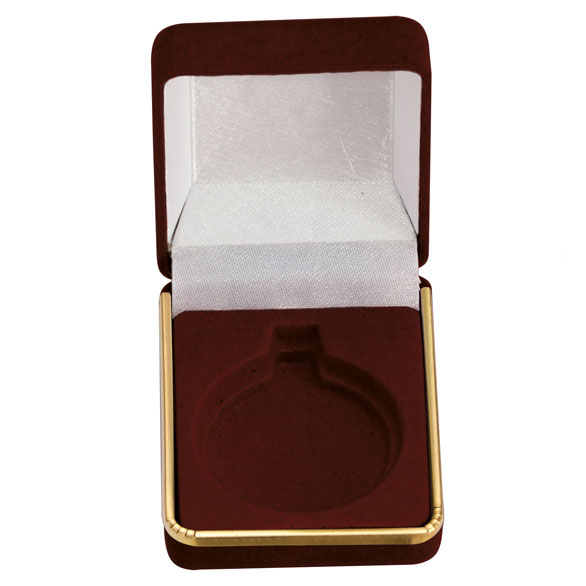 Accenture Burgundy Velour Medal Box (size: takes 40/45mm medal) - MB1065A