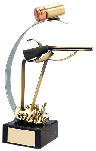 Shooting Handmade Metal Trophy - 356