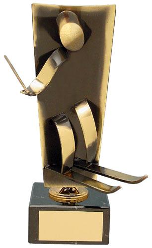 Skiing Upright Handmade Metal Trophy - 104 EQ