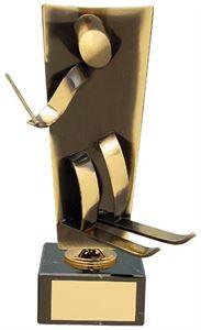 Skiing Upright Handmade Metal Trophy